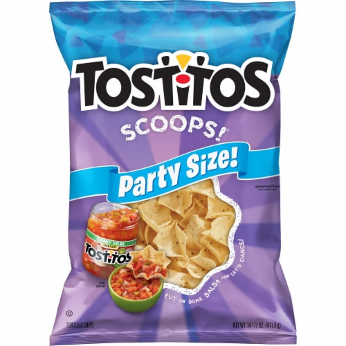 Tostitos® Scoops Tortilla Chips Snacks Perspective: front