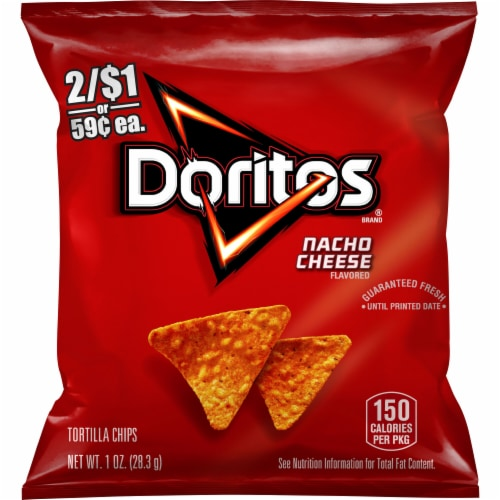 Doritos Nacho Cheese Flavored Tortilla Chips Perspective: front