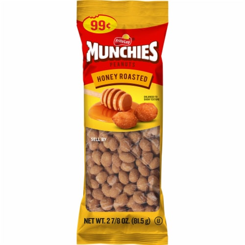 Munchies Honey Roasted Peanuts Snacks Perspective: front