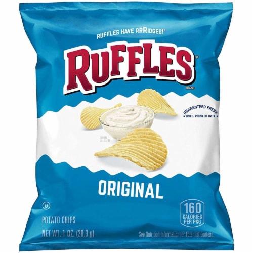 Ruffles Original Potato Chips, 1 Ounce -- 104 per case. Perspective: front
