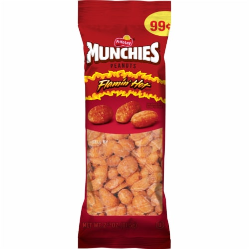 Munchies Flamin' Hot Peanuts Snacks Perspective: front