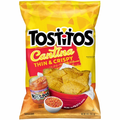 Tostitos Cantina Thin & Crispy Tortilla Chips Snacks Perspective: front