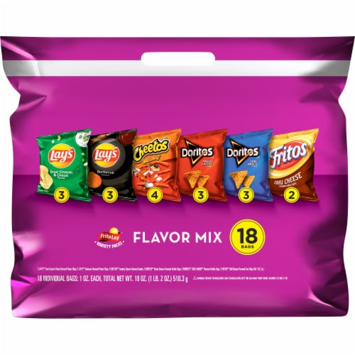 Frito-Lay Flavor Mix Snacks Variety Pack Perspective: front
