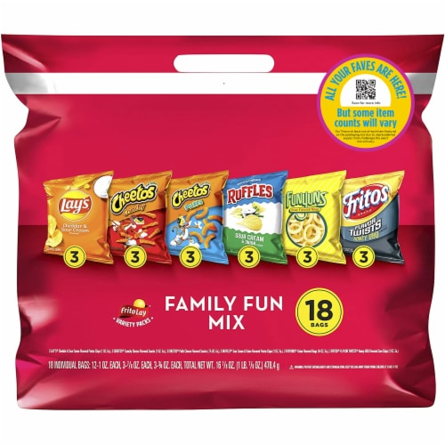 Frito-Lay Family Fun Snacks & Chips Mix Variety Pack Perspective: front