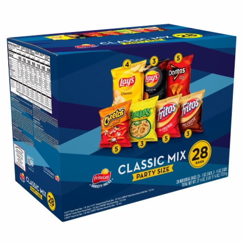 Frito-Lay® Classic Mix Snacks & Potato Chips Variety Pack Perspective: front
