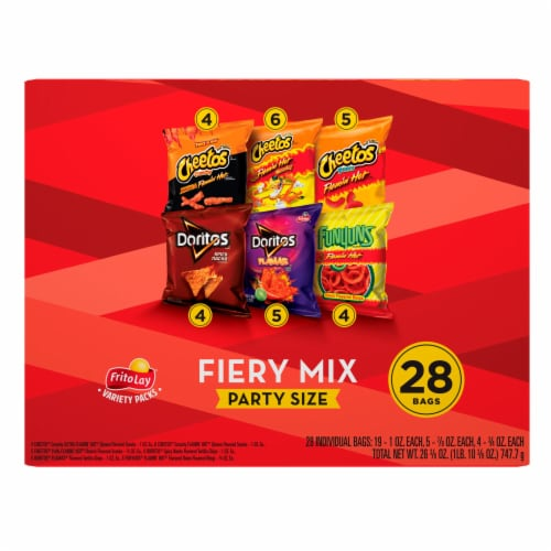 Frito-Lay Spicy Party Mix Snacks & Chips Variety Pack Perspective: front