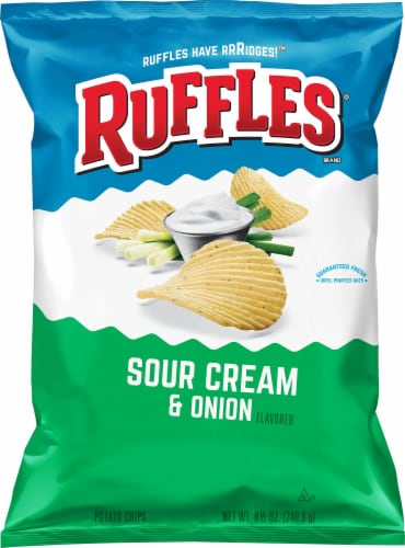Ruffles Sour Cream & Onion Flavor Potato Chips Perspective: front