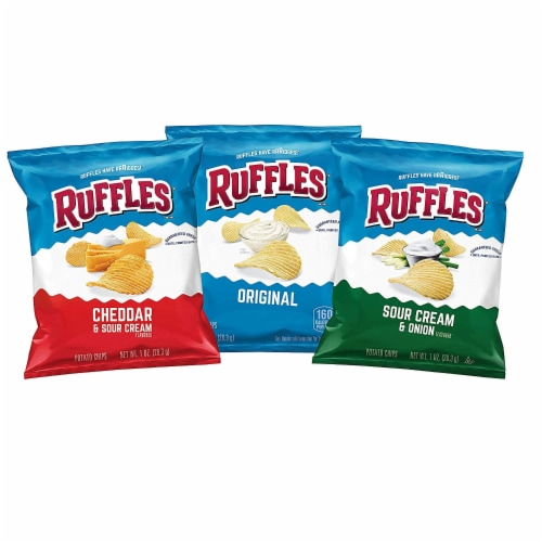 Ruffles Potato Chips Mixed Variety Pack Perspective: front