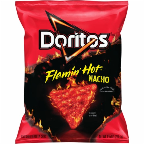 Doritos Flamin' Hot Nacho Cheese Flavored Tortilla Chips Perspective: front