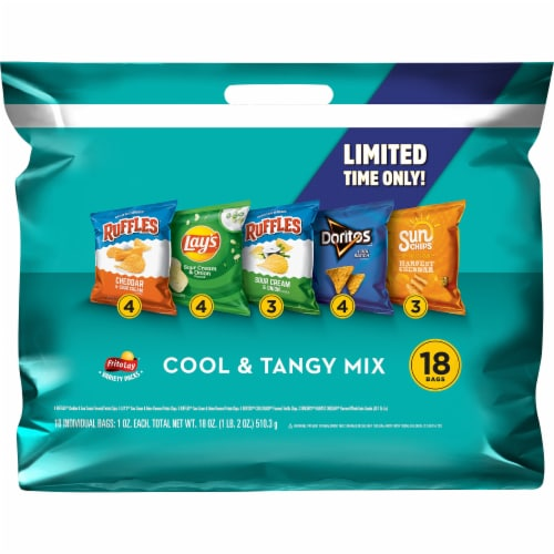 Frito-Lay Cool Tangy Snacks & Chips Mix Variety Pack Perspective: front