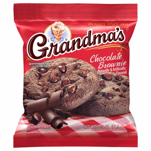 Grandma's Chocolate Brownie Cookies Perspective: front