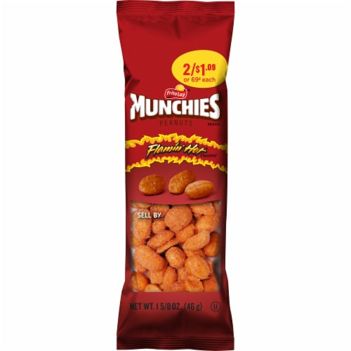 Munchies Flamin' Hot Peanuts Perspective: front