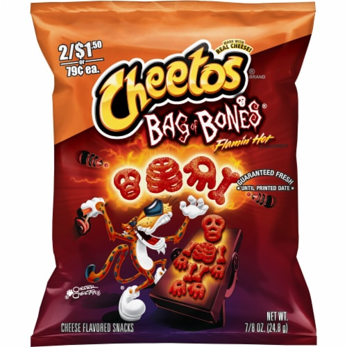 Cheetos® Bag of Bones® Flamin' Hot Cheese Flavored Snacks Perspective: front