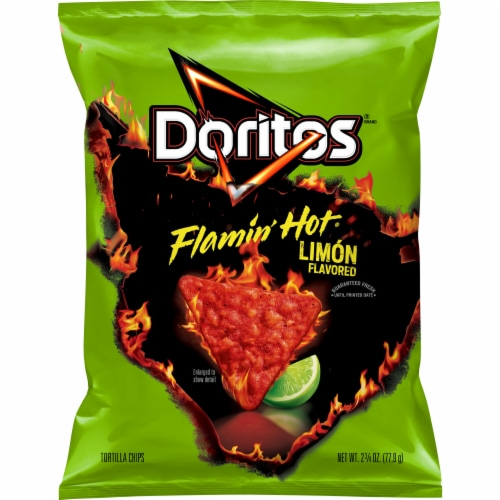 Doritos® Flamin' Hot Limon Flavored Tortilla Chips Perspective: front