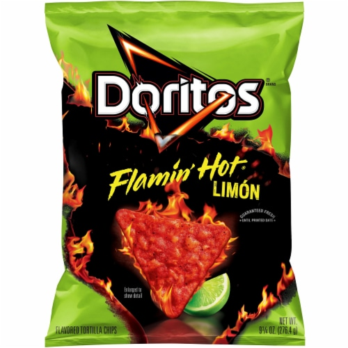 Doritos Flamin' Hot Limon Flavored Tortilla Chips Perspective: front