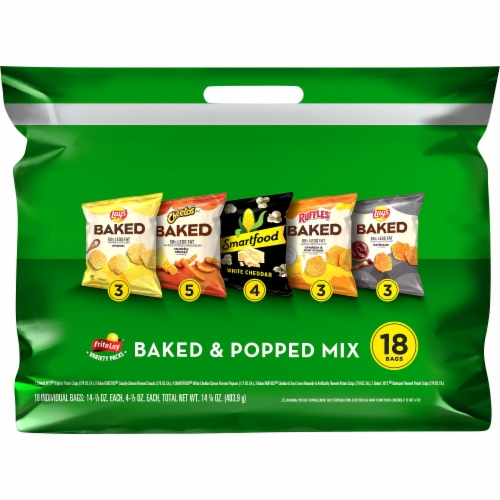 Frito-Lay® Baked & Popped Snacks & Chips Variety Pack Perspective: front