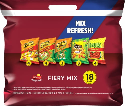 Frito-Lay Fiery Mix Snacks & Chips Variety Pack 18 Count Perspective: front