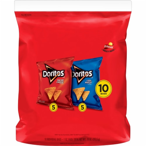Doritos Assorted Flavored Tortilla Chips (10 Pack) Perspective: front
