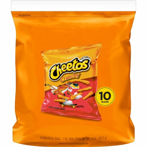 Cheetos Crunchy Cheese Snacks 10 Count Perspective: front