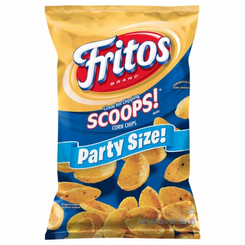 Fritos Scoops! Original Corn Chips Party Size Perspective: front