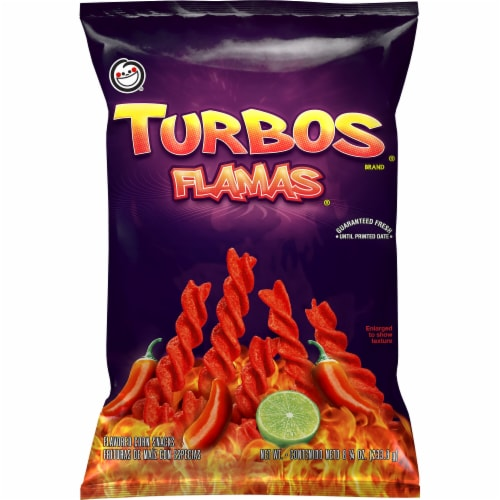 Sabritas Corn Chips Turbo Flamas Flavored Snacks Perspective: front