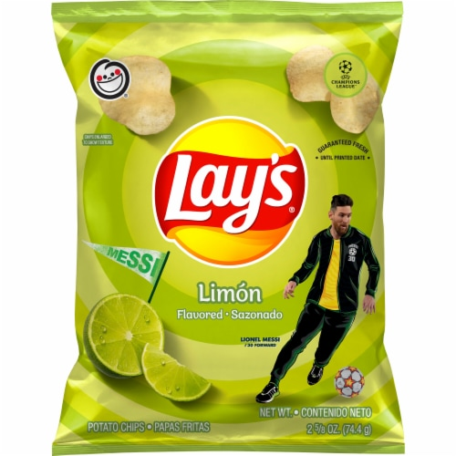 Lay's Potato Chips Limon Flavored Snacks Perspective: front