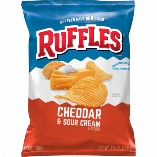 Ruffles Cheddar & Sour Cream Potato Chips Perspective: front