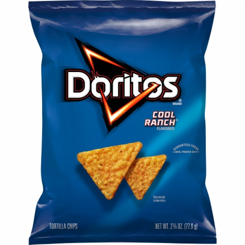 Doritos Cool Ranch Flavored Tortilla Chips Perspective: front