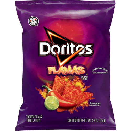 Doritos Flamas Flavored Tortilla Chips Perspective: front