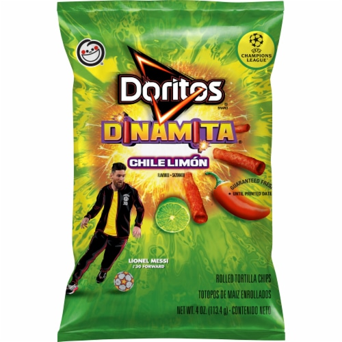 Doritos Dinamita Chile Limon Flavored Rolled Tortilla Chips Perspective: front