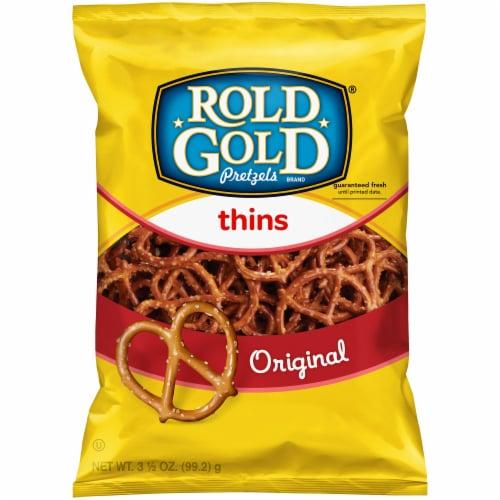 Rold Gold Original Flavored Thins Pretzels Perspective: front