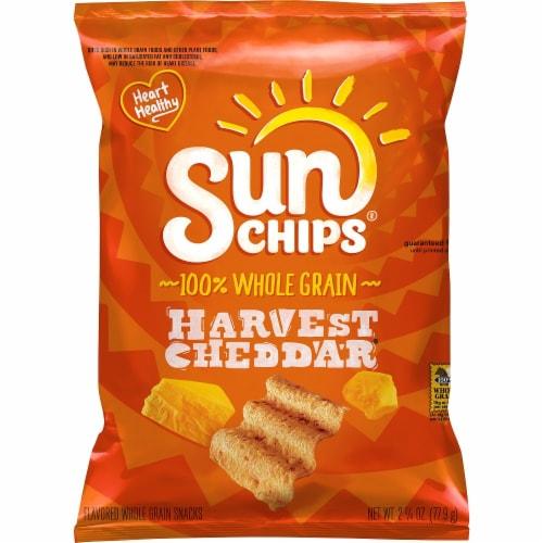 SunChips Harvest Cheddar Multigrain Snack Chips Perspective: front