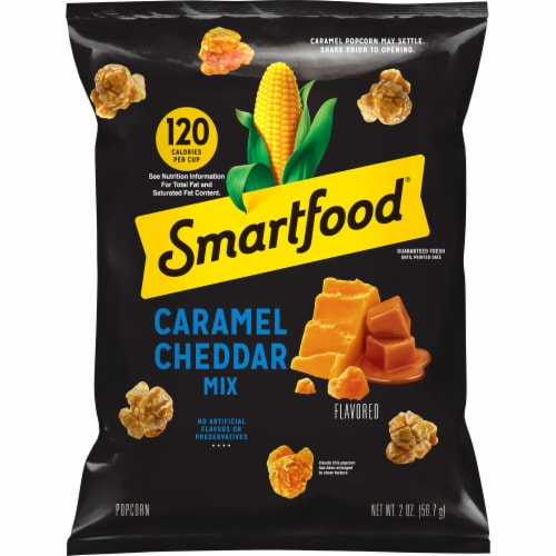 Smartfood Caramel & Cheddar Mix Popcorn Perspective: front