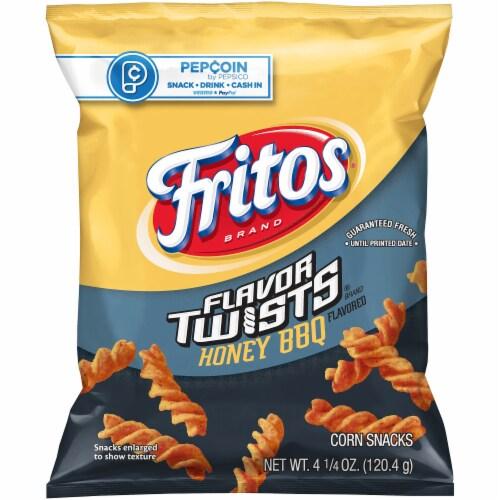 Fritos Flavor Twists Honey BBQ Corn Snacks Perspective: front