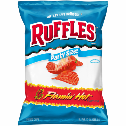 Ruffles Flamin' Hot Potato Chips Perspective: front