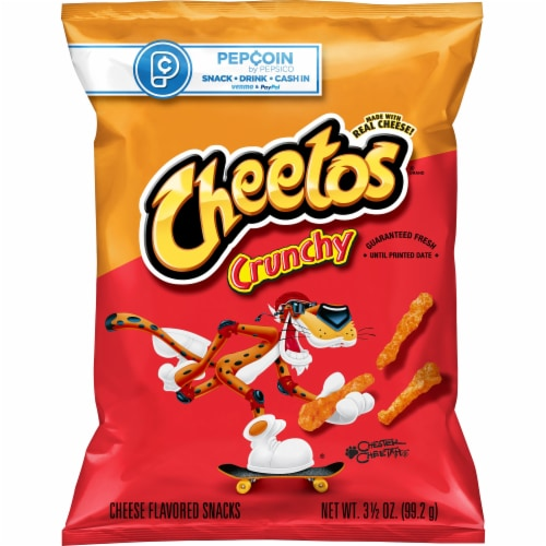 Cheetos Crunchy Cheese Flavored Snacks Perspective: front