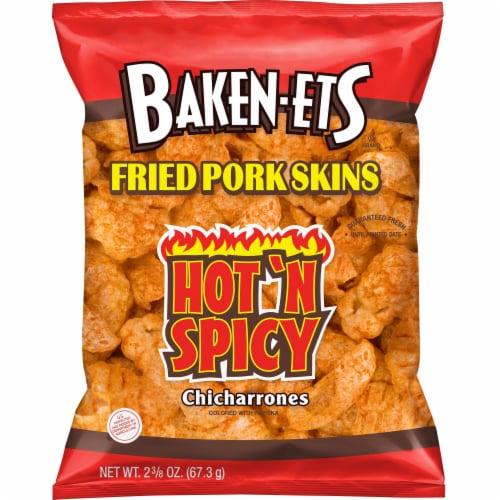 Baken-Ets Chicharrones Hot 'N Spicy Flavored Fried Pork Skins Perspective: front