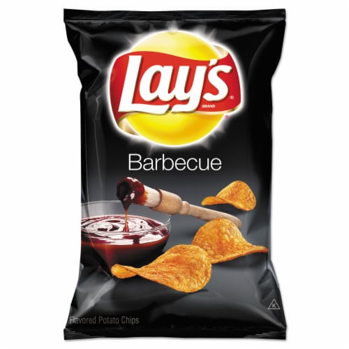 Lays BBQ Potato Chips Single Serve, 1.5 Ounce -- 64 per case. Perspective: front