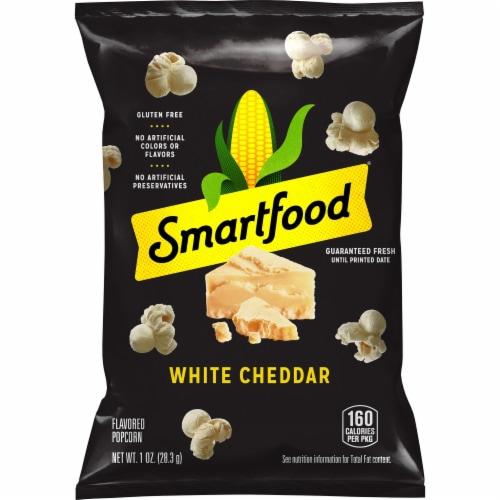 Smartfood White Cheddar Popcorn, 1.0 Oz. Bag, (64 Count) Perspective: front