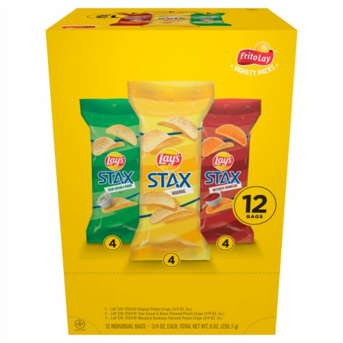 Lay's Stax Potato Crisps Variety Pack Perspective: front