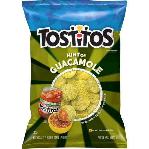 Tostitos Bite Size Hint of Guacomole Tortilla Chips Perspective: front