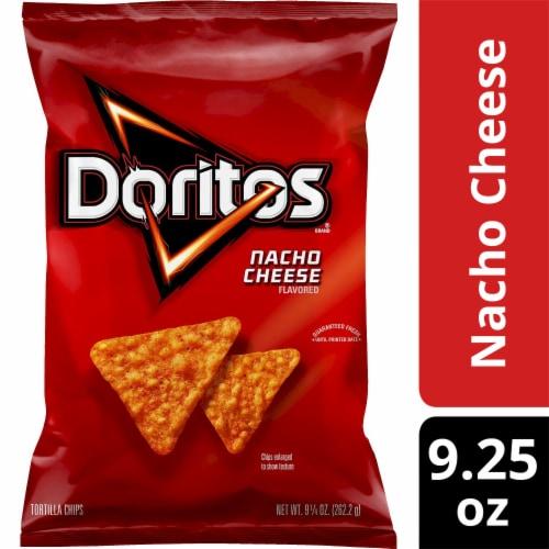 Doritos Nacho Cheese Tortilla Chips Perspective: front