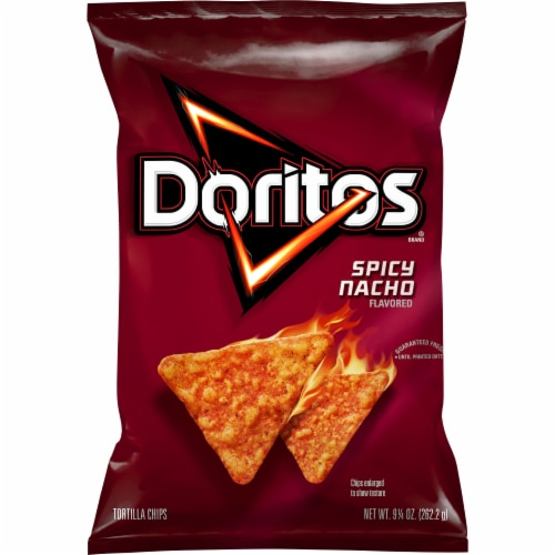 Doritos Spicy Nacho Flavored Tortilla Chips Perspective: front