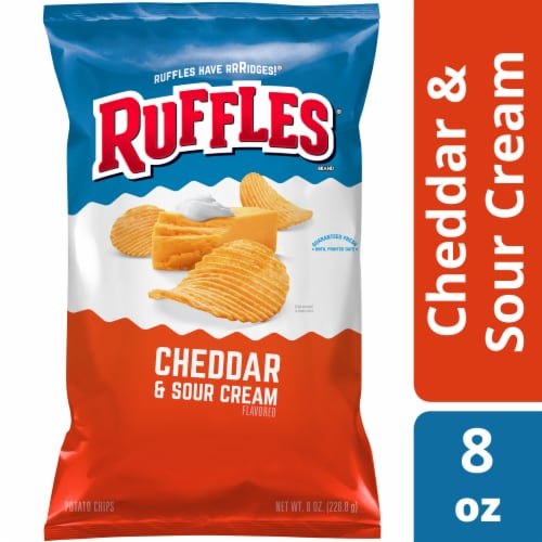 Ruffles Cheddar & Sour Cream Flavored Potato Chips Perspective: front