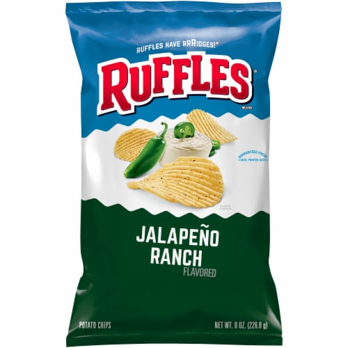 Ruffles Jalapeno Ranch Flavored Potato Chips Perspective: front