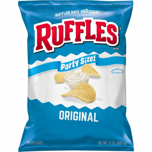Ruffles Original Potato Chips Party Size Perspective: front