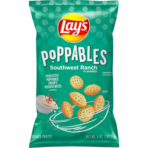 Lay's Poppables Southwest Ranch Potato Snacks Perspective: front