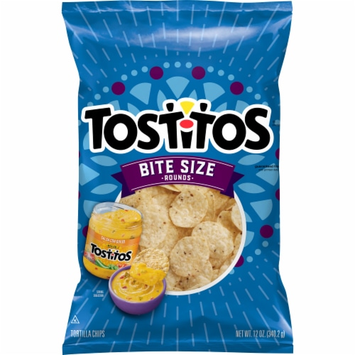 Tostitos Bit Size Rounds Tortilla Chips Perspective: front