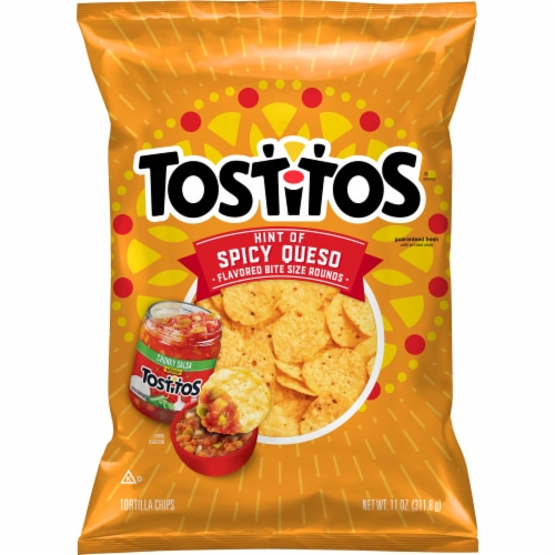 Tostitos Hint of Spicy Queso Tortilla Chips Perspective: front