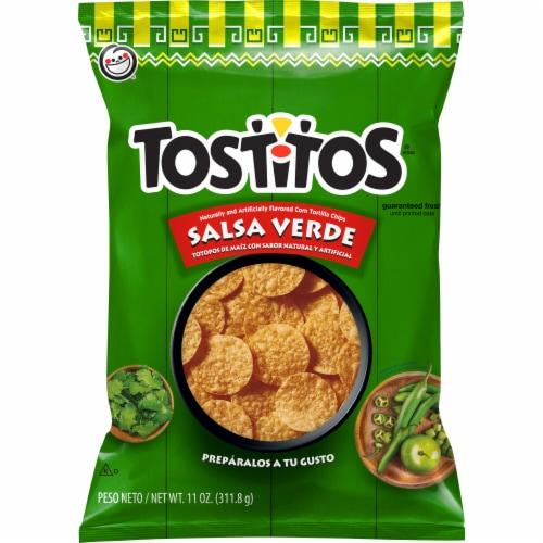 Tostitos Salsa Verde Flavored Tortilla Chips Perspective: front